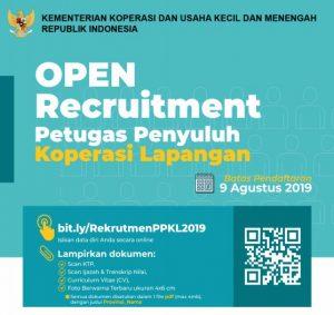 Rekruitmen PPKL Kementerian Koperasi dan UKM Tahun 2019