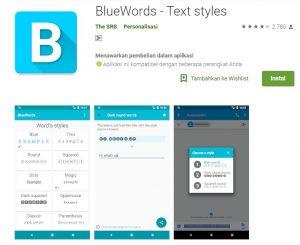 Install Aplikasi BlueWords Untuk Warna Font WhatsApp Berwarna