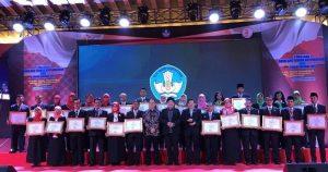 Kepala Sekolah dan Pengawas Berprestasi Tingkat Nasional Tahun 2019